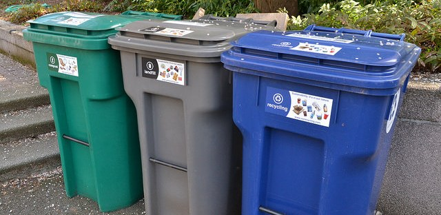 compost waste recycling trash bins